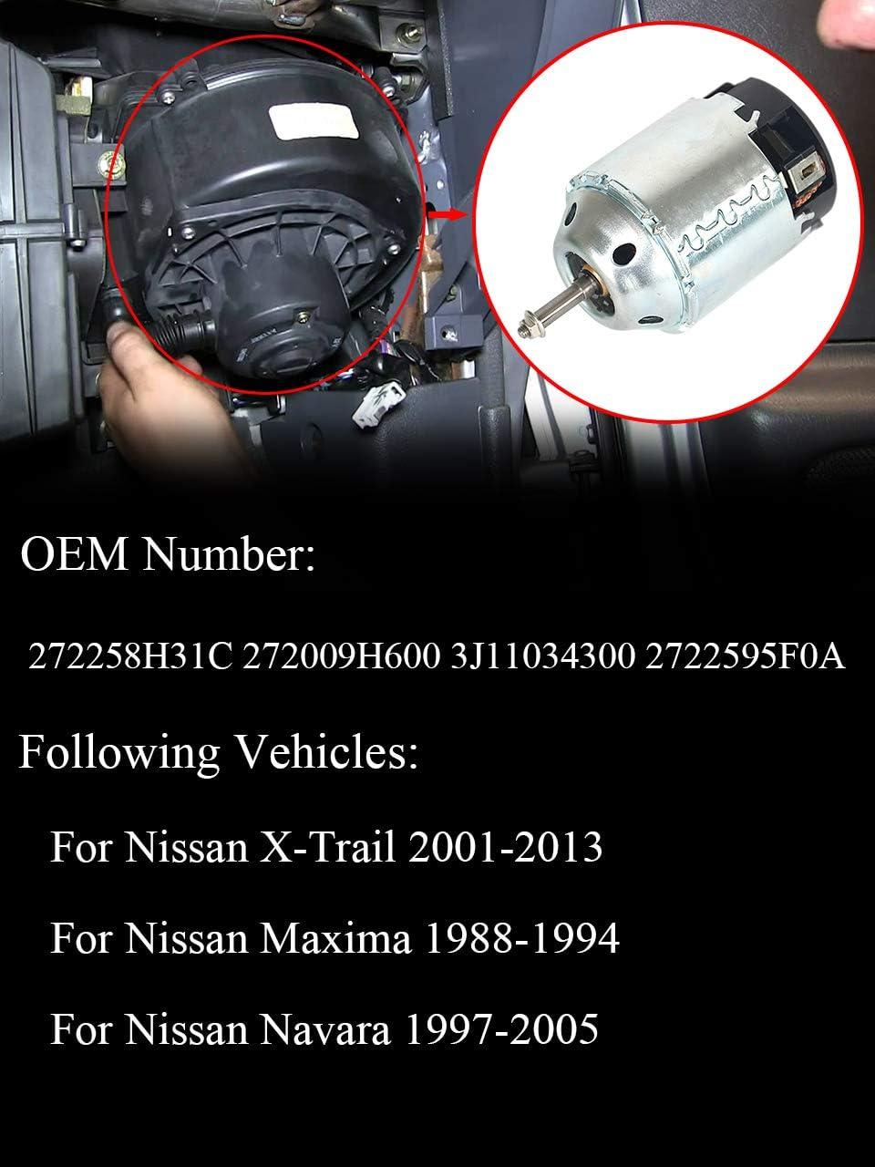 27200-9H600 27225-8H31 Heizgebl/äsemotor f/ür X-Trail T30 Modelljahr 2001-2013