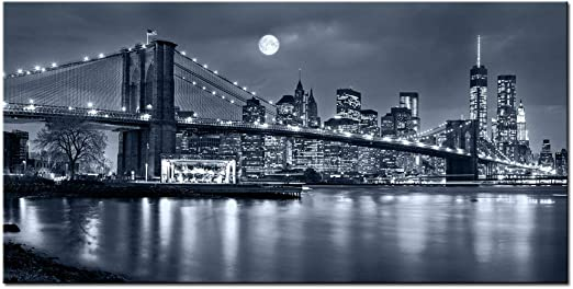 Any Size New York NYC Cityscape Canvas Wall Art Print Large