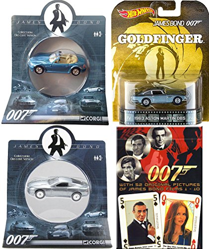 007 Set - Cars & Cards - Aston Martin Hot Wheels Goldfinger