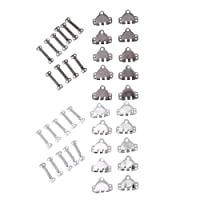 F Fityle 20 Sets Metal Hooks and Bars Sewing Hook Eye Closure for Trouser Skirt Dress