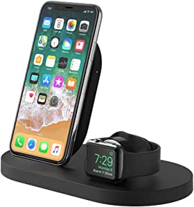 Belkin Boost Up Wireless Charging Dock (Apple Charging Station for Iphone + Apple Watch + USB Port) Apple Watch Charging Stand, iPhone Charging ...