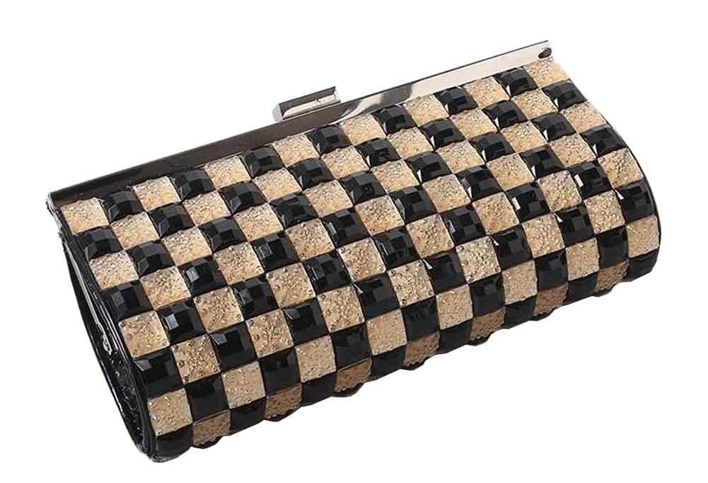 Doble cara Rhinestones bolso de embrague, con la cadena desmontable [B]: Amazon.es: Belleza