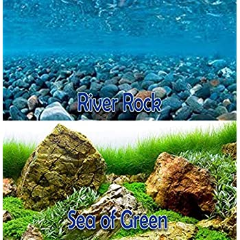 """New Seaview Seascape//Natural Mystic 18/"""" Aquarium Double-Sided Background BGSS1-18"""