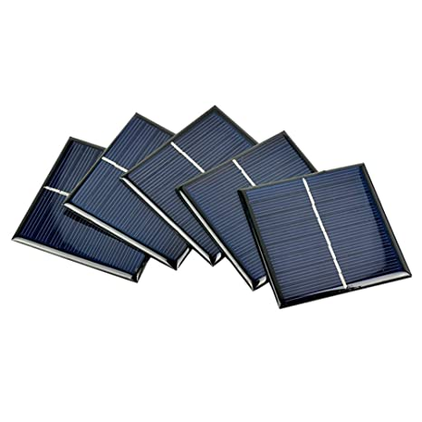 Invento 5pcs 5v 100ma 0 5w 70 X 70mm Mini Epoxy Solar Panel Photovoltaic Polycrystalline Diy Cell Charger Amazon In Garden Outdoors