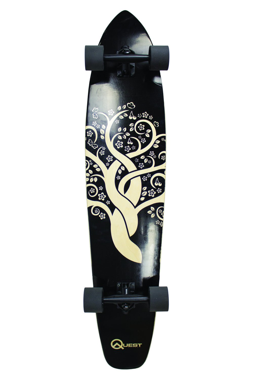 Quest The Super Cruiser Gaia Artisan Maple 44'' Longboard Skateboard by Quest