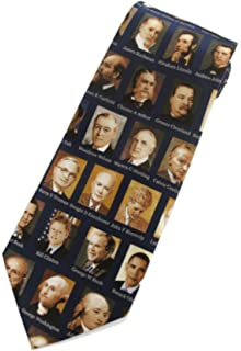 American Liberty Mens Neck Tie Patriotic Landmark Statue USA Flag Blue Necktie