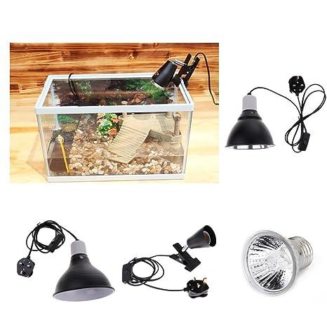 220-240V 100W Pet Reptile Reflector Halogen Spotlight Light Lamp Bulb