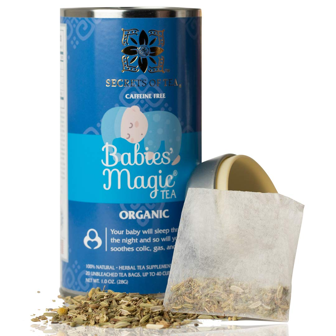 Baby Colic Babies Magic Tea - N1 Baby Colic, Gas & Acid Reflux Relief-USDA Organic- MUST BE USED 3 TO 4 TIMES A DAY- 20 Sanitized T Bags- Up to 80 Servings. No Chemicals: Baby