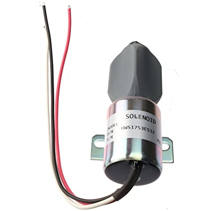 Holdwell Fuel Solenoid SA-3786-12 1753ES-12E6ULB1S1 for Kubota Diesel 21HP  Engine 91-05 Grasshopper 721D2 Mower 12V