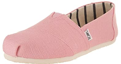 8c3f1cb4a TOMS Classic Powder Pink Heritage Canvas Womens Espadrilles Shoes ...