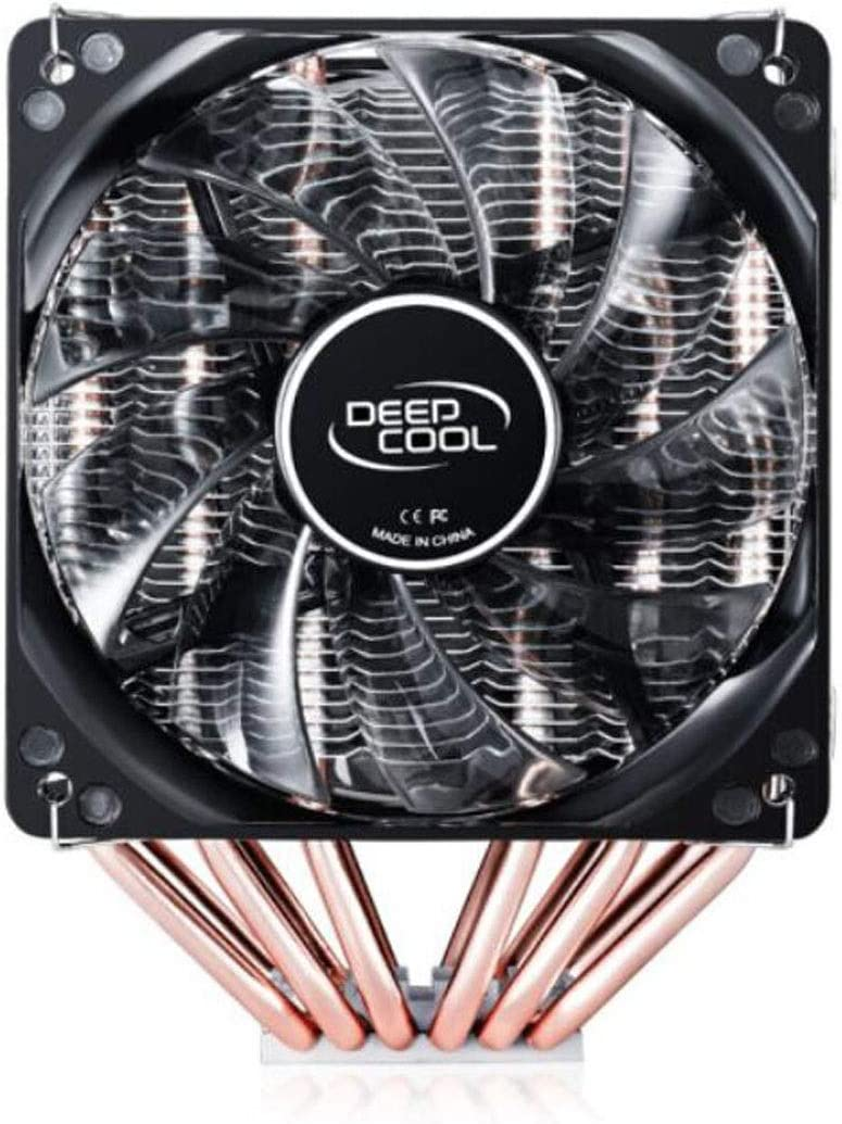 Dual Tower//Air Cooling//Support AM4//2066 // Multi-Platform // 6 Heat Pipe//Double LED Fan//with Silicone Grease The Appearance is Beautiful. Jinnuotong01 CPU Cooler Color : Black