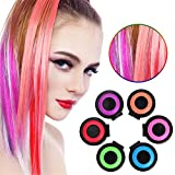 Bleaching Hair From Black To Red - Cosprof Hair Coloring Chalk Set-Hair ,Temporary DIY Color for Girls Hair for All Ages,6 Colors