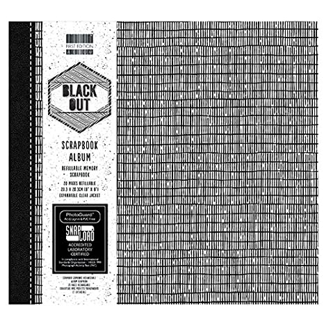 First Edition Black Out Papier Pad, Papier, schwarz / weiß, 6x6 Paper Pad schwarz / weiß 6x6 Paper Pad Trimcraft FEPAD142