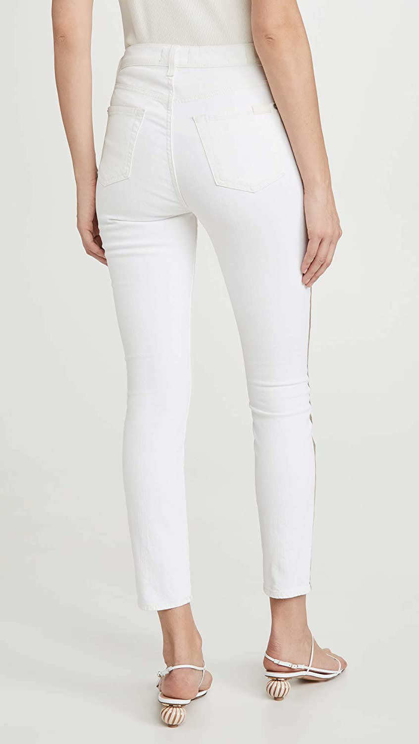 7 For All Mankind Womens High Waist Ankle Skinny Jeans