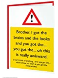 Funny Humorous 'Brother Nicest Shoes' Birthday Greetings Card