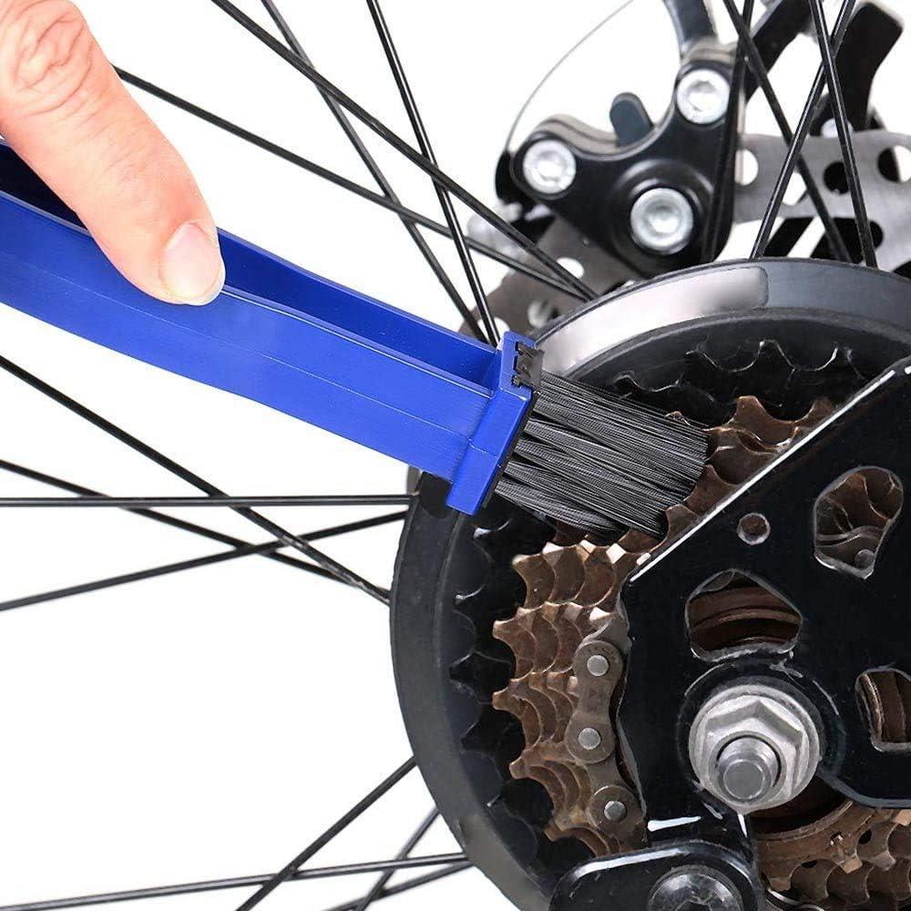 Voarge Ketten Reinigungsbürste Kettenbürste Zur Reinigung Der Kette Von Bikes Und Moto Bike Kettenreinigern Blau Auto