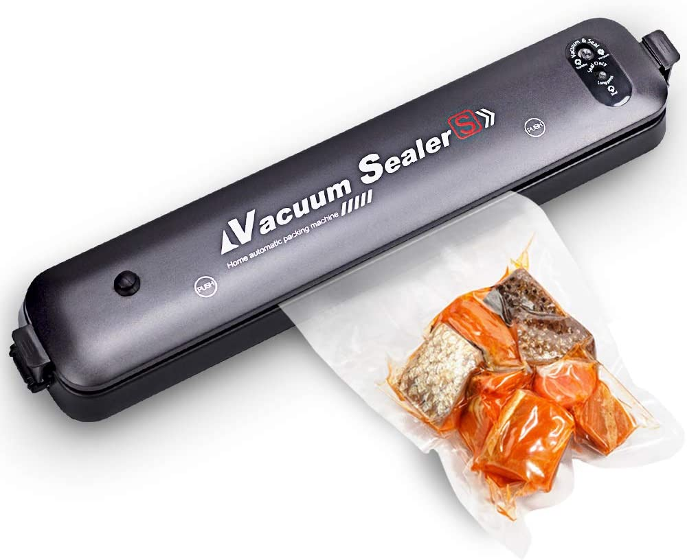Vacuum Sealer, Kowela Automatic Food Vacuum Sealing Machine For Vacuum Food Storage Preservation, 15 Sealing Bags Included, Easy to Operate and Clean, Compact Design