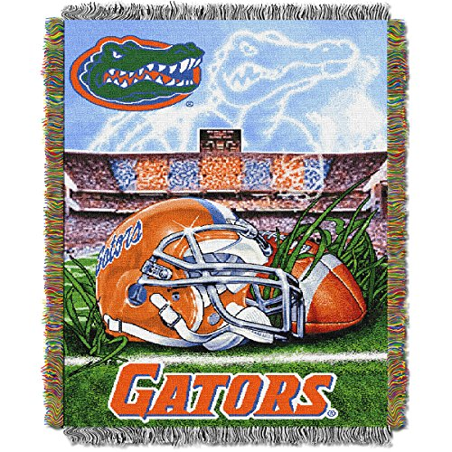 THE NORTHWEST COMPANY FLORIDA GATORS HOME FIELD ADVANTAGE WOVEN TAPESTRY - Woven Florida Gators Tapestry Throw