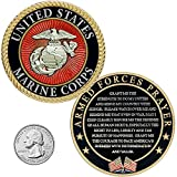 USMC Prayer Coin - Marine Corps Valor USMC