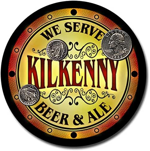 Kilkenny Family Name Beer and Ale Rubber Drink Coasters - Set of 4