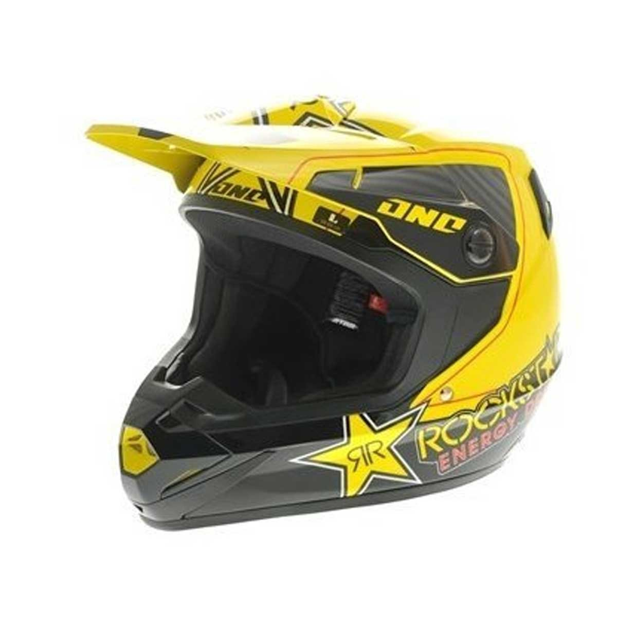 Amazon.com: One Industries Atom Rockstar Helmet (Yellow, Small): Automotive