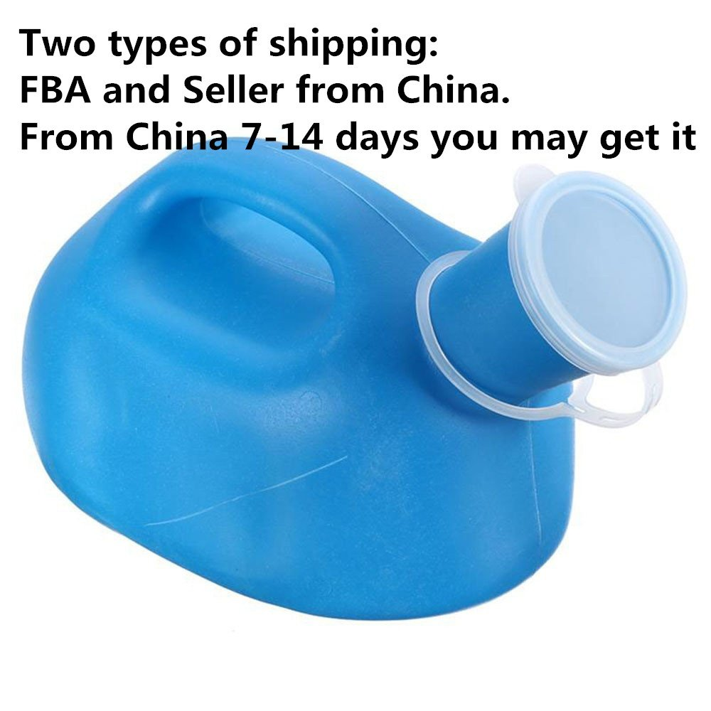 Portable 2000ML Child Male Travel Pee Urinal Potty Bottle Drainage Container Truckers Bed Bedding Plastic Toilet