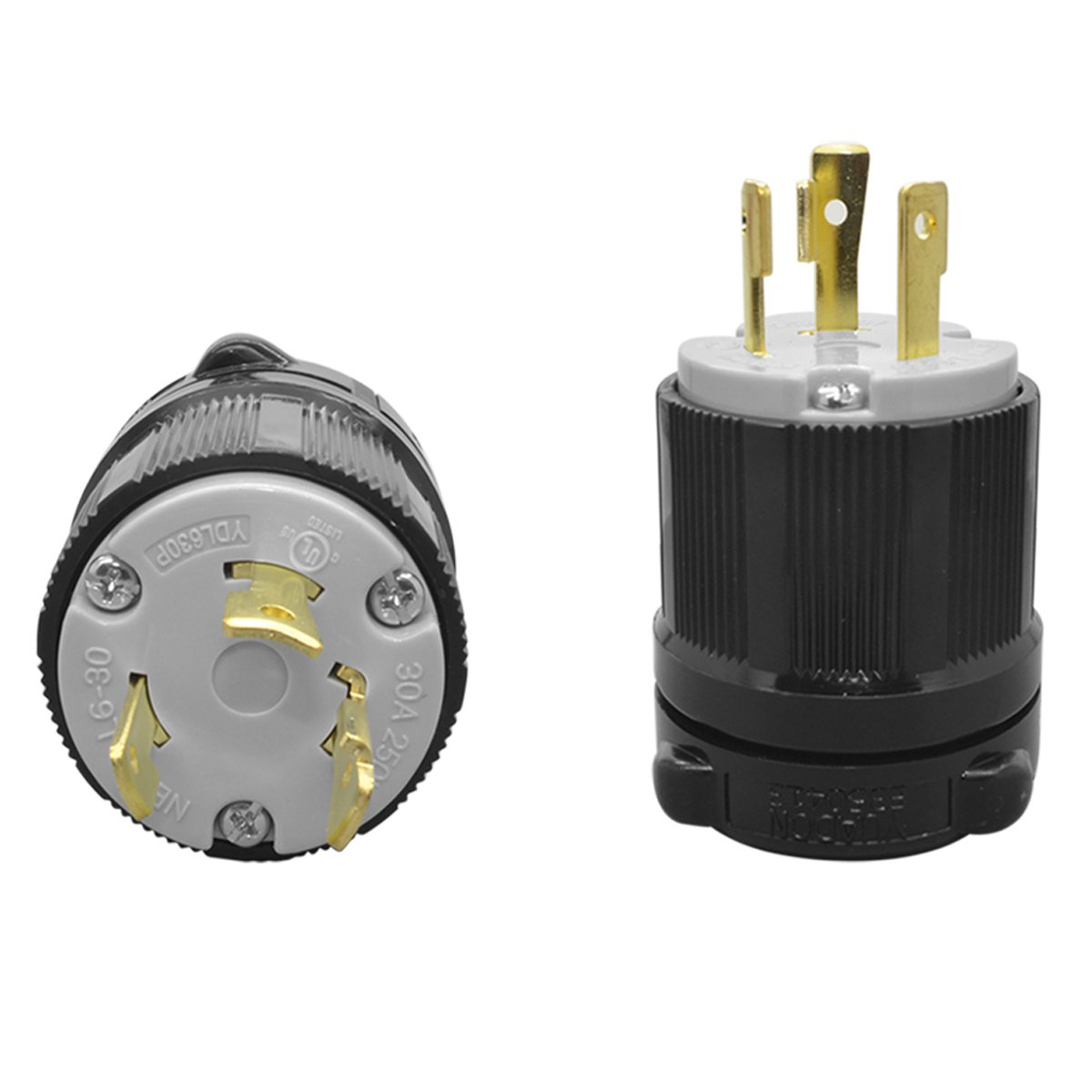 L6-30P Plug 3 Wire 30Amps Male 250V  Approval Safety for L6-30R Outlets