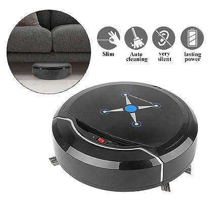 lesgos Robot Aspirador Inteligente, Sensores Inteligentes de succión Fuerte Autocarga Robot Limpiador automático para aspiradora de Pisos con ...