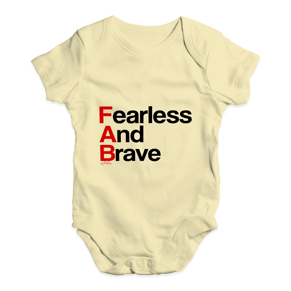 TWISTED ENVY Bodysuit Baby Romper FAB Fearless and Brave