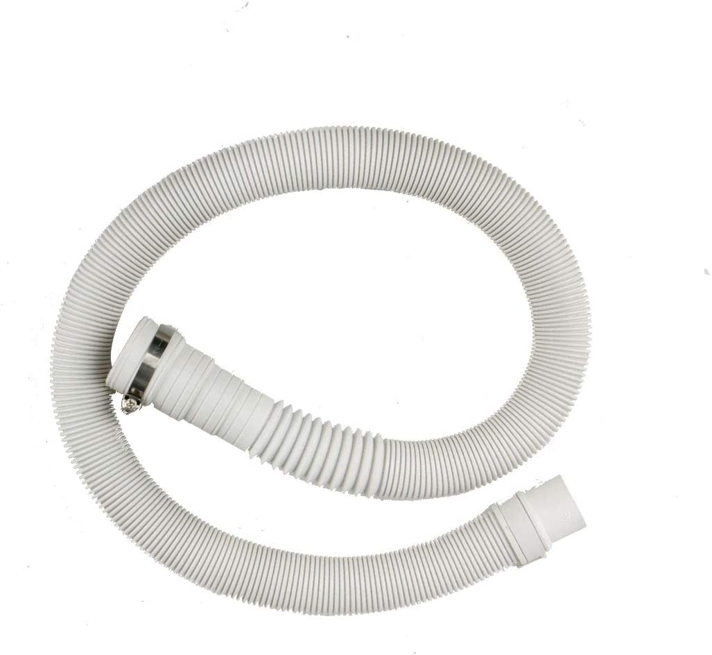 uxcell 4 Ft Universal Wash Machine Drain Extension Hose Portable Wash Machine Dishwasher Discharge Drain Hose Fit Replacement Pale Gray