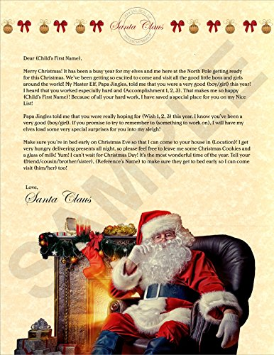 Personalized Christmas Letter from Santa ()