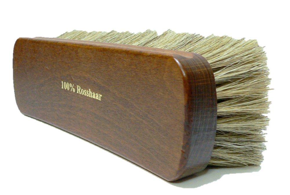 Shoe Polishing Brush | Luxury Shining Brush | Genuine HorseHair | Made in Germany | White Hair by Valentino Garemi (Image #1)