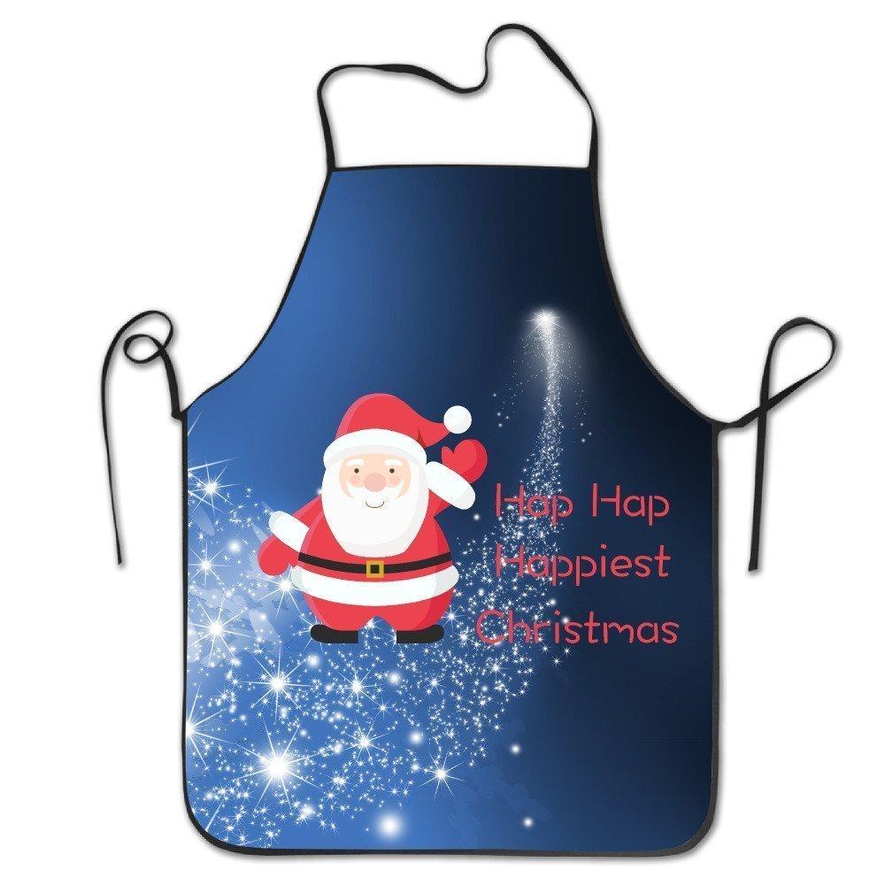 ユニセックスHap Hap Happiestクリスマスキッチンエプロン   B07DN5T6PJ