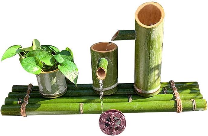 QXTT Fuente De Bambu Exterior Bamboo Fuente De Agua Estatuas Fuentes Decorativas Interior Exterior para Jardín Decoración del Hogar Cascada Jardín Japonés Al Aire Libre Característica,25cm: Amazon.es: Hogar