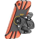 TEUMI Bike Phone Mount, 360° Rotatable Motorcycle Phone Mounts Bicycle Phone Holder, Universal Adjustable Silicone…