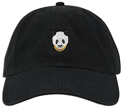 panda embroidered dad hat baseball cap polo style adjustable black giants bear philippines