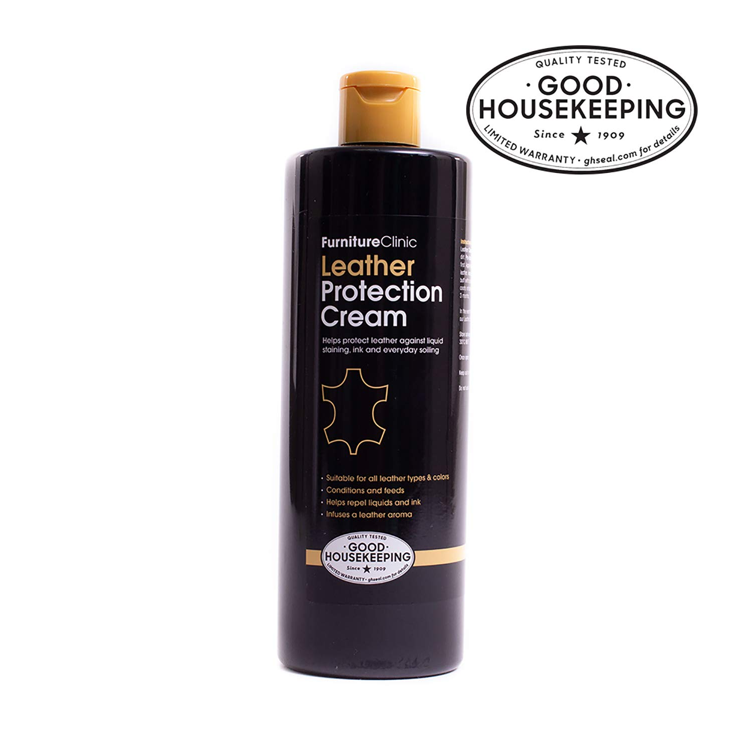 Furniture Clinic Leather Conditioner and Protection Cream (500ml) - For Car Interiors / Seats, Leather Furniture, Couches, Shoes, Boots, Bags, Purses | For all Leather Types and Colors (black, brown, tan, etc.)