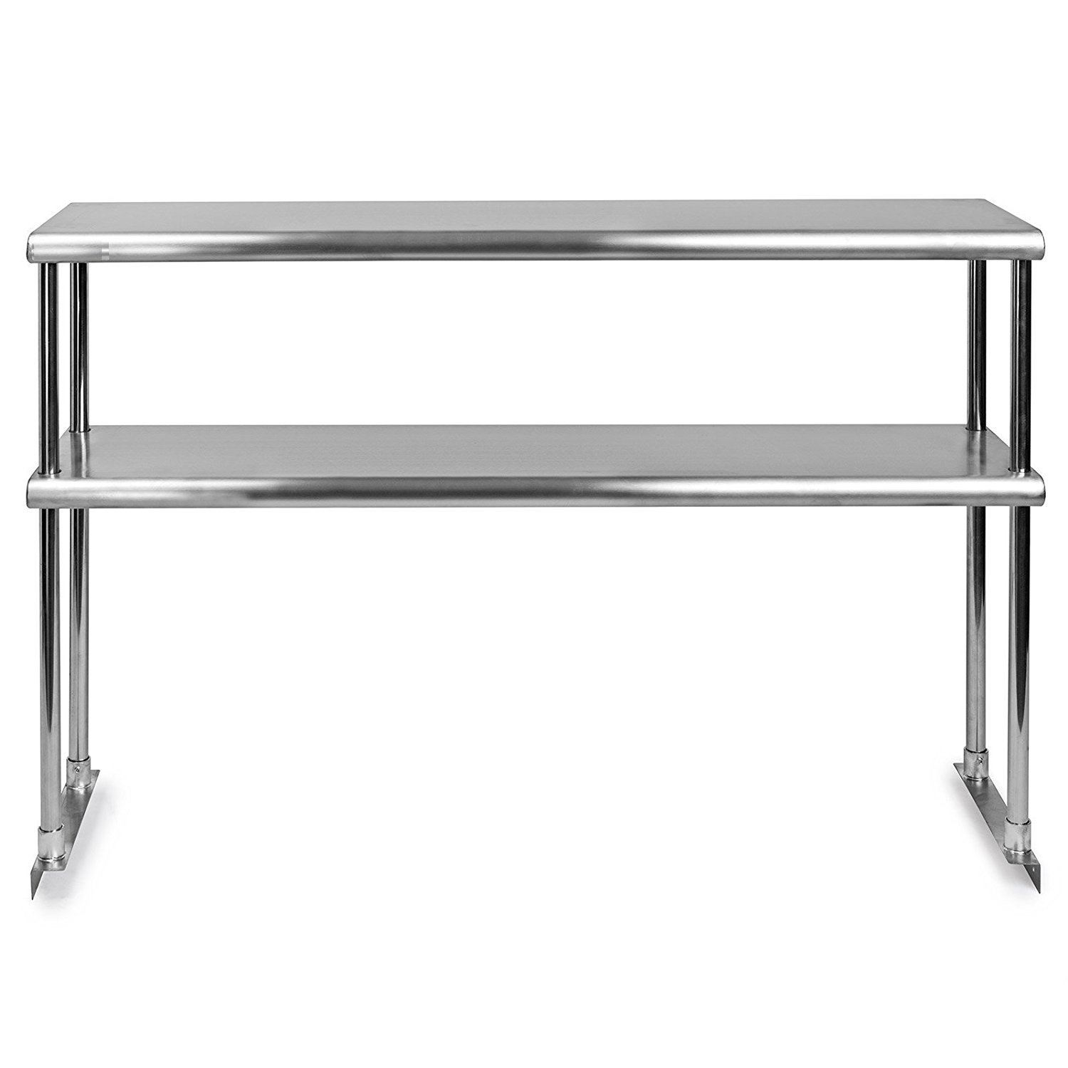 KPS Stainless Steel Double Overshelf for Prep Work Table 18 x 60 - NSF