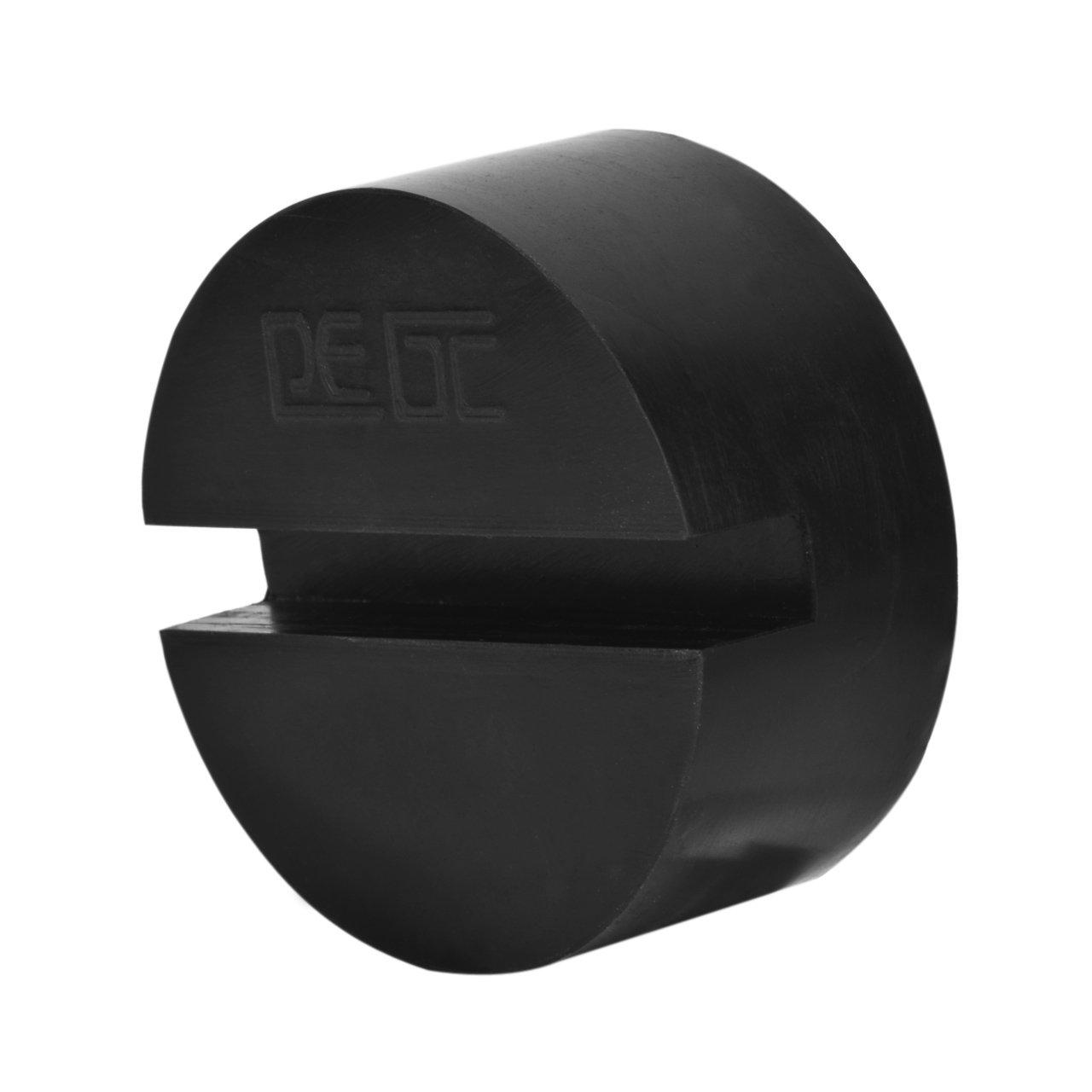 DEDC 4Pcs Bloc de Caoutchouc pour Cric Tampon Cric Hydraulique 75x35mm Solide R/ésistant Prot/éger Le Bas de Caisse Lors du Levage de la Voiture Noir