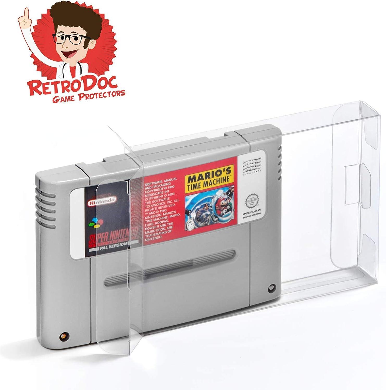 20 SNES Super Nintendo cajas/fundas protectoras para juegos módulos: Amazon.es: Videojuegos