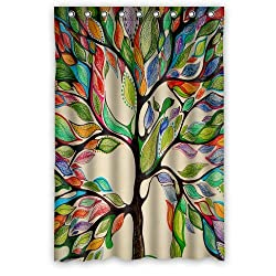 Custom Popular Shower Curtains Watercolor Tree of Life Shower Curtains