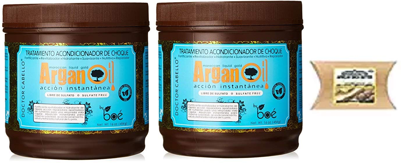 Amazon.com : Argan Oil Moroccan Liquid Gold Hair Care Treatment, 16 Ounce (2PCS & SHEA-BUTTER) : Beauty
