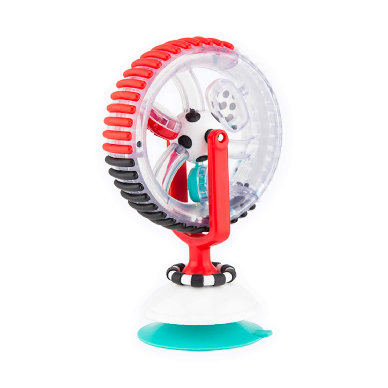 Sassy Wonder Wheel, Black & White, Developmental Suction Cup Toy, Ages 6+ Months