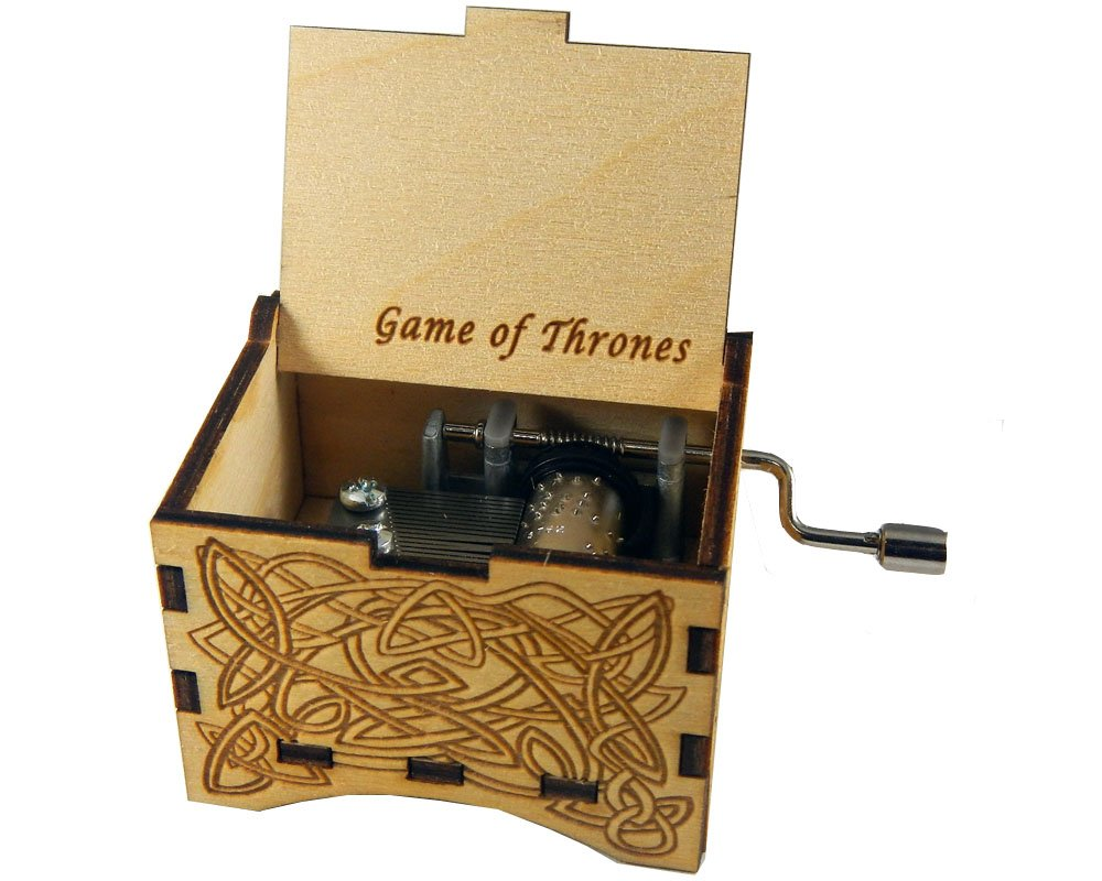 TheLaser'sEdge, Game of Thrones, Personalizable Music Box, Laser Engraved Birch Wood (Personalized)