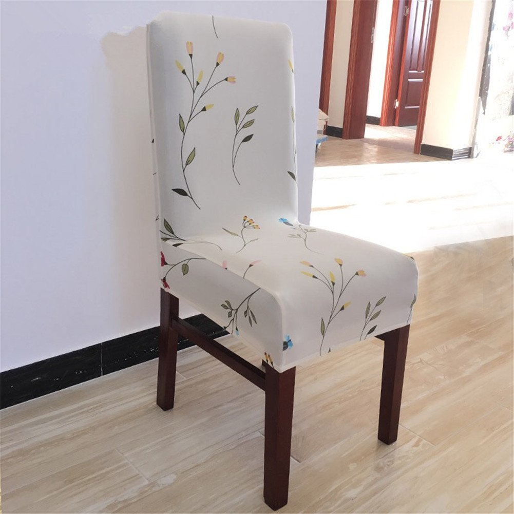 Seiyue Super Fit Stretch Removable Washable Short Dining Chair Cover Protector Seat Slipcover for Hotel,Dining Room,Ceremony
