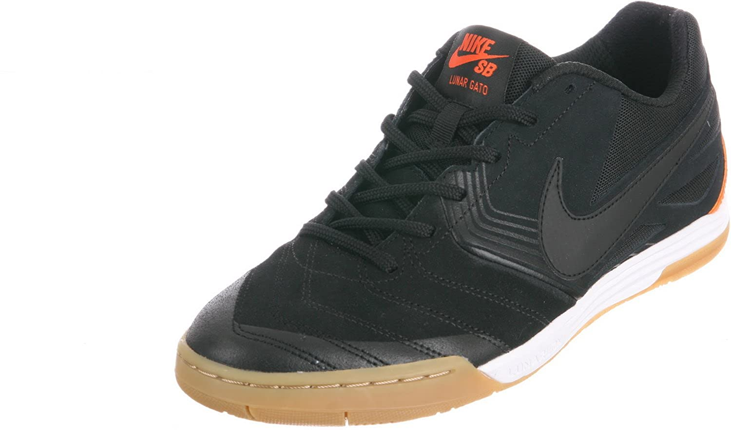 wholesale dealer b1c71 08ee3 Amazon.com   Nike SB Men s SB Lunar Gato WC Black Safety Orange Black 7 D -  Medium   Shoes