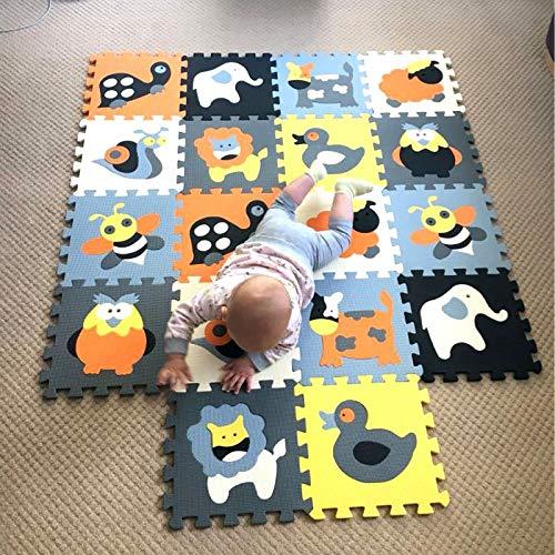 XMTMMD Schaumstoff Puzzle Matte Fruits Baby Gym Puzzle Spielmatte Kids Interlocking Soft Boden Fliesen Kinder Zimmer Play Bereich 18PCS AMZP010010G301018