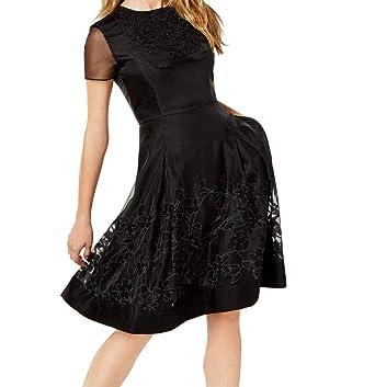 33f6b049004b Sachin + Babi Womens Embellished Illusion Party Dress Black 14 at ...