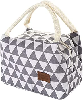 HADIY for Women Kids Men Insulated Canvas Box Tote Bag