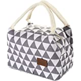 HADIY For Women Kids Men Insulated Canvas Box Tote Bag Thermal Cooler Food Lunch Bags